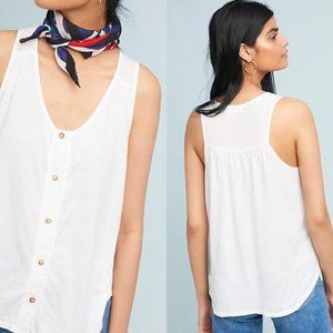 T.LA S White Sojourn Buttondown Tank